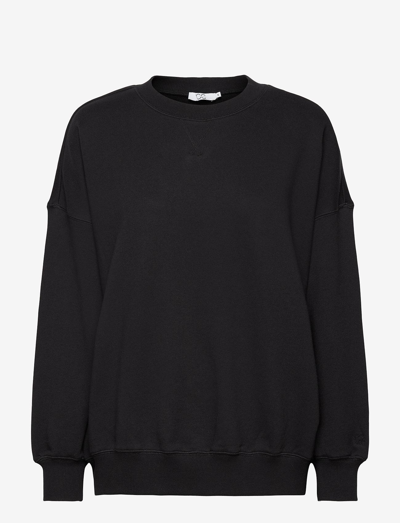 Coster Copenhagen - CC Heart oversize sweatshirt - Orga - sweatshirts & hættetrøjer - black - 0