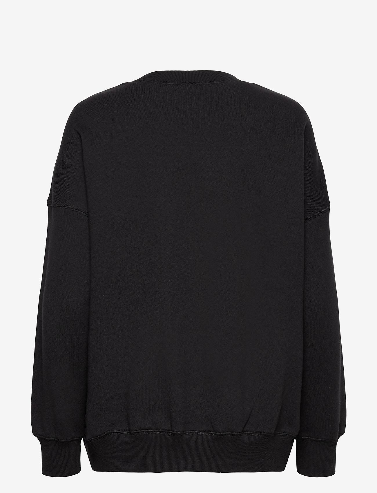 Coster Copenhagen - CC Heart oversize sweatshirt - Orga - sweatshirts & hættetrøjer - black - 1