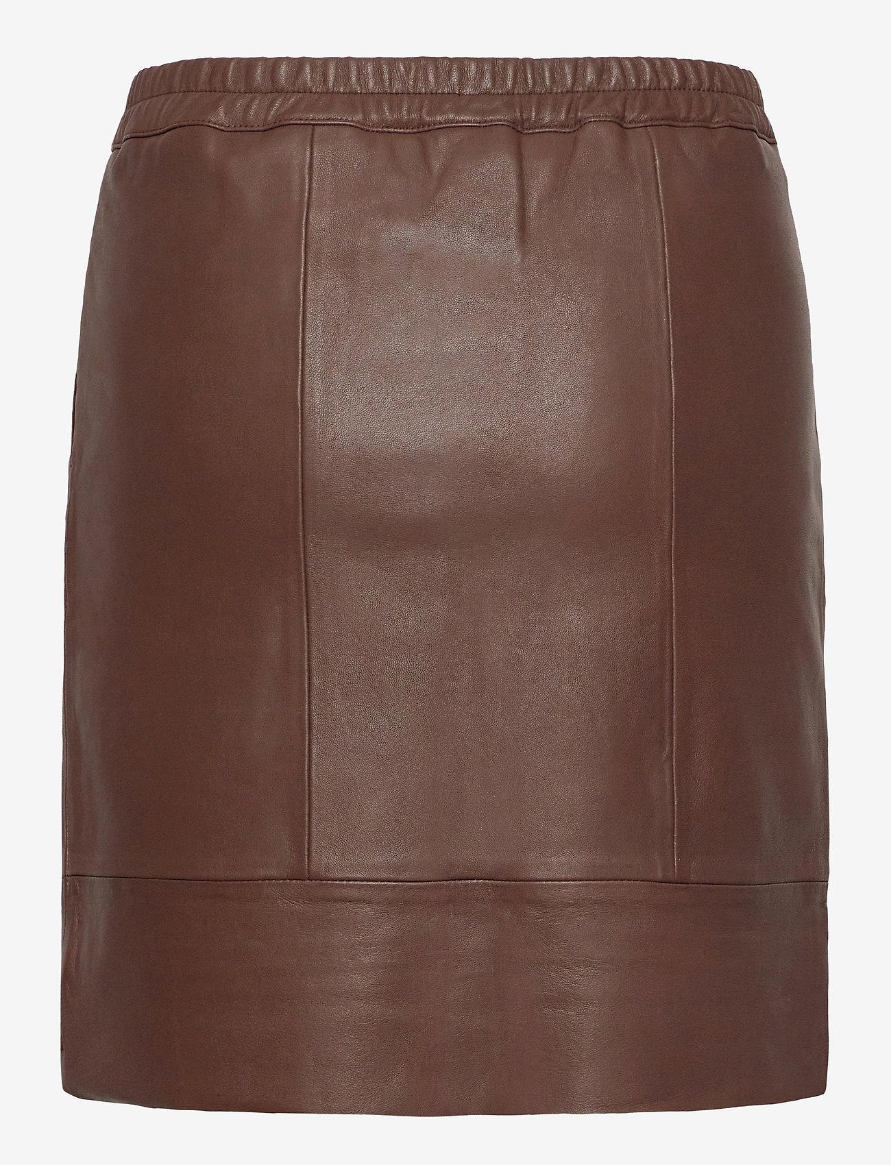 Coster Copenhagen - CC Heart leather skirt (B4514) - korta kjolar - dark brown - 1