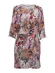 Jungle print dress w. pocket - JUNGLE PRINT