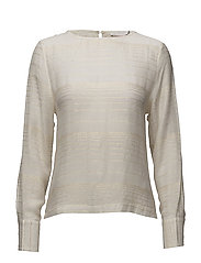 Gold stripe long sleeve top - OFF WHITE