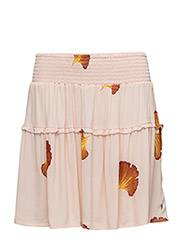 Skirt w. fan flower print - FAN FLOWER PRINT PEARL ROSE