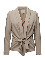 Jacket w. structure and tie band - SAND