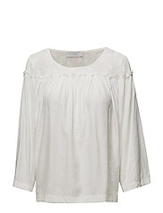 Top w. leaf fabric and wrinkel - OFF WHITE