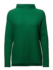 Mohair knit w. turtle neck - GRASS GREEN