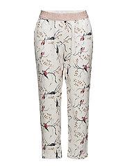 Bird print pants - BIRD PRINT