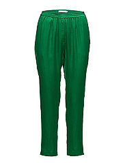 Pants w. elastic - GRASS GREEN