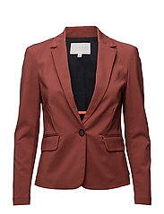 Jacket w. rib detail - MARSALA