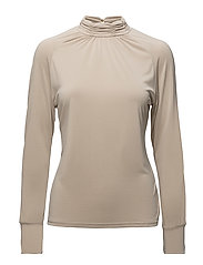 Long sleeve modal jersey top - SAND