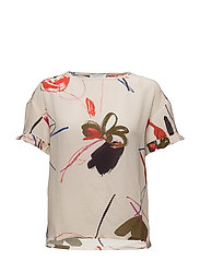 Paint brush print top w. short sleeve - PAINT BRUSH PRINT