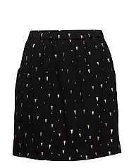 Skirt w. foil print - TRIANGLE FOIL PRINT BLACK