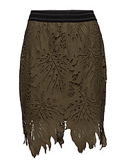 Heavy lace skirt - DARK OLIVE