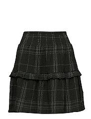 Checked skirt - DARK GREEN CHECK
