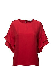 Cupro Top W. Volant Sleeves thumbnail
