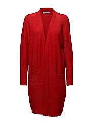 Long mohair cardigan - HAUTE RED