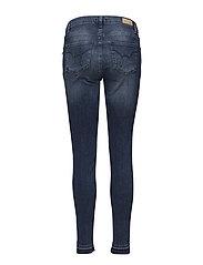 Slim fit jeans w. raw edges