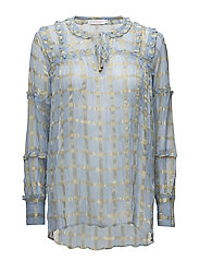Blouse w. geometric structure - CRYSTAL W. GOLD