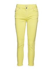 Slim fit jeans w. slit - PINEAPPLE