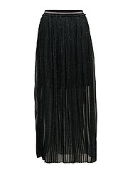 Skirt w. plissé and leopard print - LEOPARD PRINT EMERALD GREEN