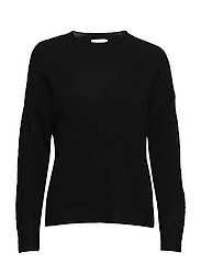 Sweater in mohair knit - BLACK