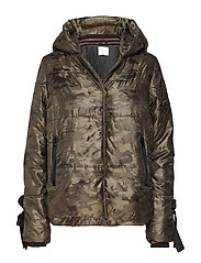 Jacket in faux down w. camouflage - CAMOUFLAGE