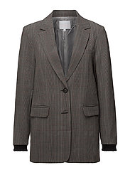 Suit jacket in check fabric w. lure - BLACK
