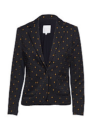 Suit jacket in hexagon jacquard - LEMON CURRY