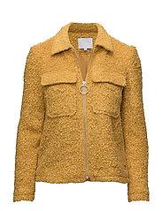 Boucle jacket - LEMON CURRY