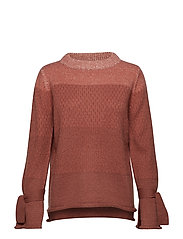 Sweater in degradé - TERRACOTTA RED