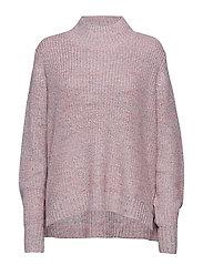 Sweater in woolmix w. turtleneck - MULTI COLOR MELANGE