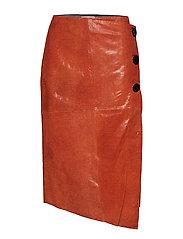 Skirt in orange snake - SHOCKING ORANGE