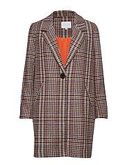 Long jacket in checks - CHECK