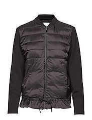 Jacket in scuba w. quiltet down fro