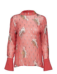 Blouse in sky print w. lurex - CANYON ROSE