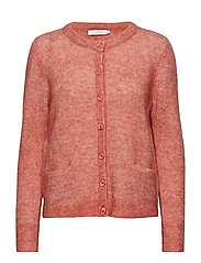 Cardigan in crystal mohair - CANYON ROSE