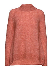 Sweater w. round neck in crystal mo - CANYON ROSE