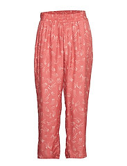 Pants in dot print w. elastic waist - CANYON ROSE
