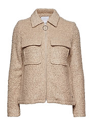 Jacket in boucle - COLD SAND