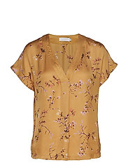 Top in valley print w. v-neck - VALLEY PRINT