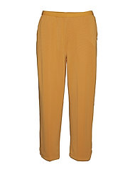 Pants w. piping in sideseam - GOLD SPICE