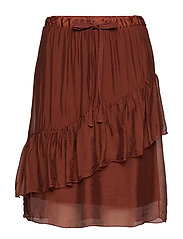 Skirt w. elastic and w. wide drawstring - ROSEWOOD