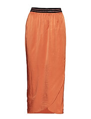 Skirt w. elastic in waist - RUST