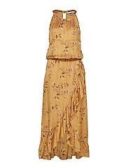 Dress in valley print w. smock - VALLEY PRINT