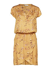 Dress in valley print w. smock - VALLEY PRINT
