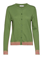 Knitted cardigan in seawool - FORREST GREEN
