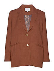 Suit jacket in checked quality - CHOCOLATE NUT