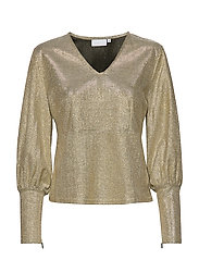 Blouse in glitter - SILVER GREY