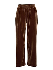 Pants in velvet - COGNAC