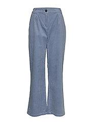 Pants in cordery w. press folds - SHADOW BLUE