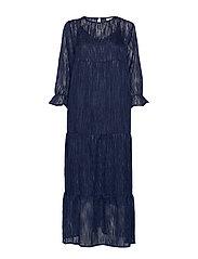 Dress long sleeved w. volume at sle - NIGHT SKY BLUE